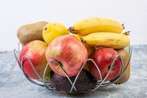 Basket with healthy fruits concept (Flip 2019)
