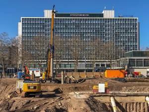 Bauarbeiten vor dem Steigenberger Hotel Köln