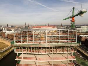 Bauprojekt in der Hamburger Hafencity