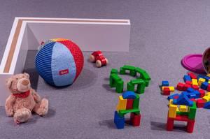 Bauspielzeug, Ball und Plüschbär von Sigikid