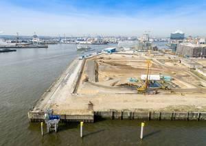 Baustelle Hamburg-Überseequartiert (Luftbild)