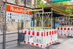 Baustelle KVB-Station Rudolfplatz in Köln