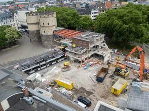 Baustelle Rudoflplatz Köln im Jahr 2017