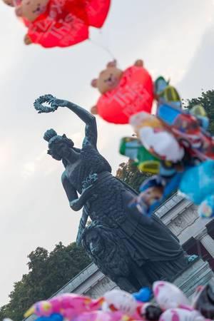 Bavaria bronze statue in Munich
