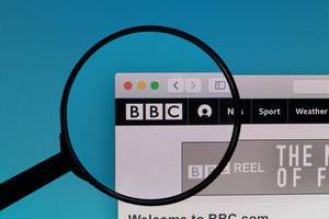 BBC logo under magnifying glass