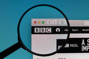BBC website under magnifying glass