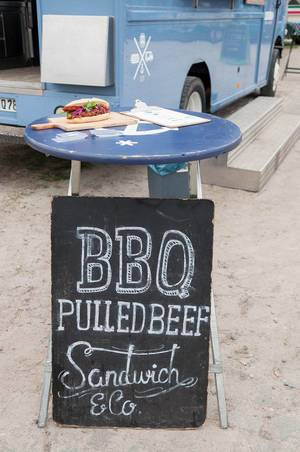 BBQ Pulled Beef Sandwich