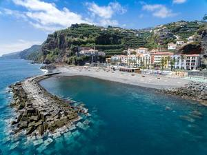 Beach of Ponta do Sol in Madeira