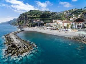 Beach of Ponta do Sol in Madeira