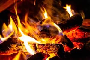 Beautiful orange flame