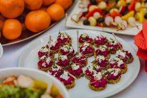 Beet Cream Canape Appetizers  (Flip 2019)