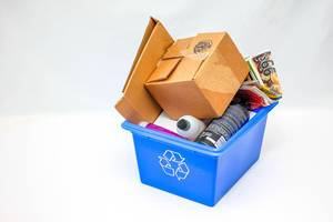 Behälter mit recyclebarem Abfall