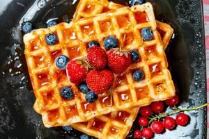 Belgian or french waffles for breakfast (Flip 2019)