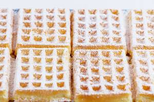 Belgian square waffles with powdered sugar (Flip 2019)