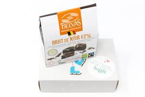 Belvas - Belgische gefüllte Schokoladenwürfel mit Kokosblütenzucker aus dem siebzehnten Türchen des Active Foodist Adventskalender