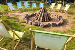Bereit für das Lagerfeuer am Abend - Gamescom 2017, Köln