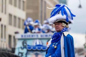Berittener Blauer Funke beim Rosenmontagszug - Kölner Karneval 2018