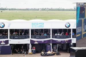 Berlin 2019 E-Prix- DS TECHEETAH Team - Auto zieht sich in die Boxengasse zurück