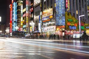 Bewegung auf den Straßen von Tokyo