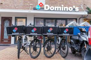 Bicycles of pizza delivery Domino