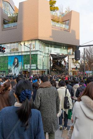 Big Crowd in front of Tokyo Plaza
