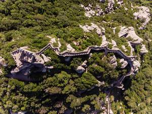 Bird´s-eye view of the Castelo Dos Mouros