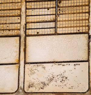 Bird eye view of salt production fields / Vogelperspektive von Salzproduktionsfeldern