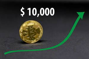 Bitcoin now worth $10,000