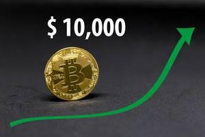 Bitcoin now worth $10,000