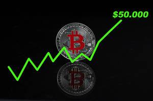 Bitcoin with value increase to $50.000