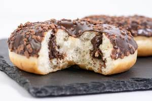 Biten Chocolate Donut with chocolate cream