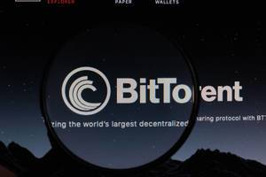 BitTorrent logo under magnifying glass
