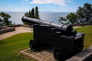 Black Cannon in Front of the Water