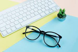 Black reading glasses for Computer work