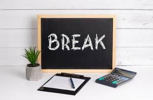 Blackboard with Break text