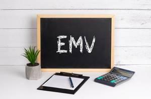 Blackboard with EMV text