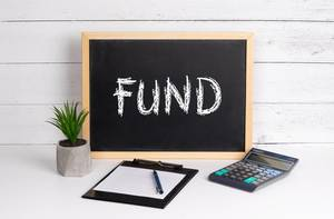 Blackboard with Fund text