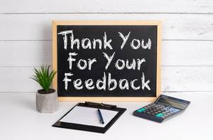 Blackboard with Thank You For Your Feedback text