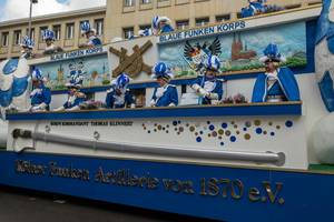 Blaue Funken Korps Kölner Funken Artillerie von 1870 - Kölner Karneval 2018