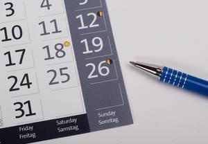 Bleistift mit Datum der EU-Wahlen 2019