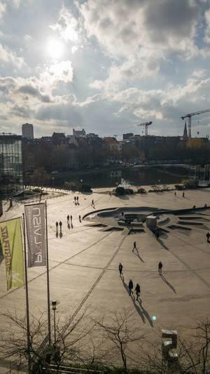 Blick auf den Mediapark