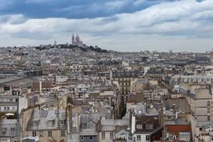 Blick über Paris und Sacré-Cœur