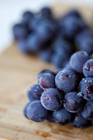 blue grapes close-up