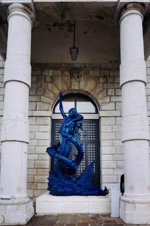 Blue Meramaid statue