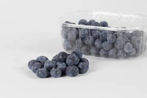 Blueberries in a box