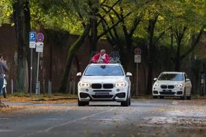 BMW-Autos der offiziellen Fahrzeugflotte - Köln Marathon 2017