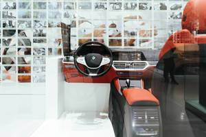 BMW interior prototype in design studio