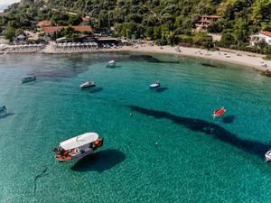 Boats near the beach in Afitos, Chalkidiki