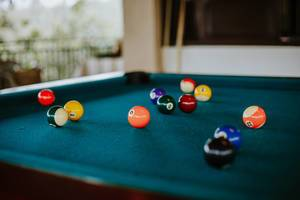 Bokeh Shot of Billiard Balls