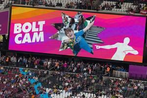 Bolt Cam bei den IAAF Leichtathletik-Weltmeisterschaften 2017 in London